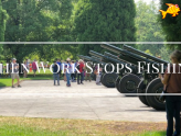 work stops fishing